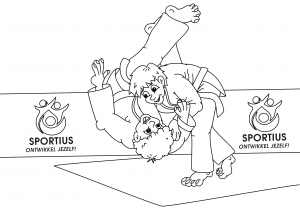 Judo kleurplaat