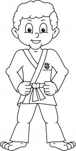 Judo kleurplaat jongen