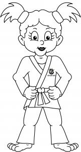 Judo kleurplaat meisje